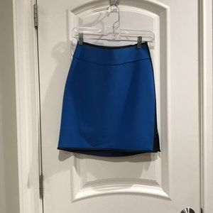 Ann Taylor skirt with leather trim. Never worn.